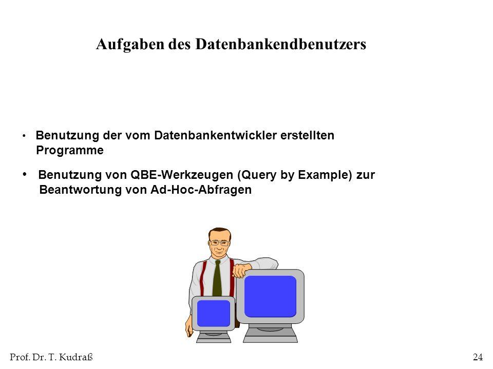 Aufgaben des Datenbankendbenutzers