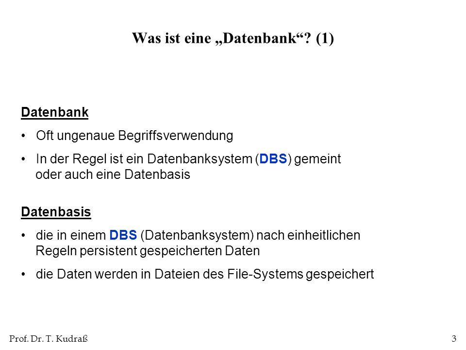 """Was ist eine """"Datenbank (1)"""