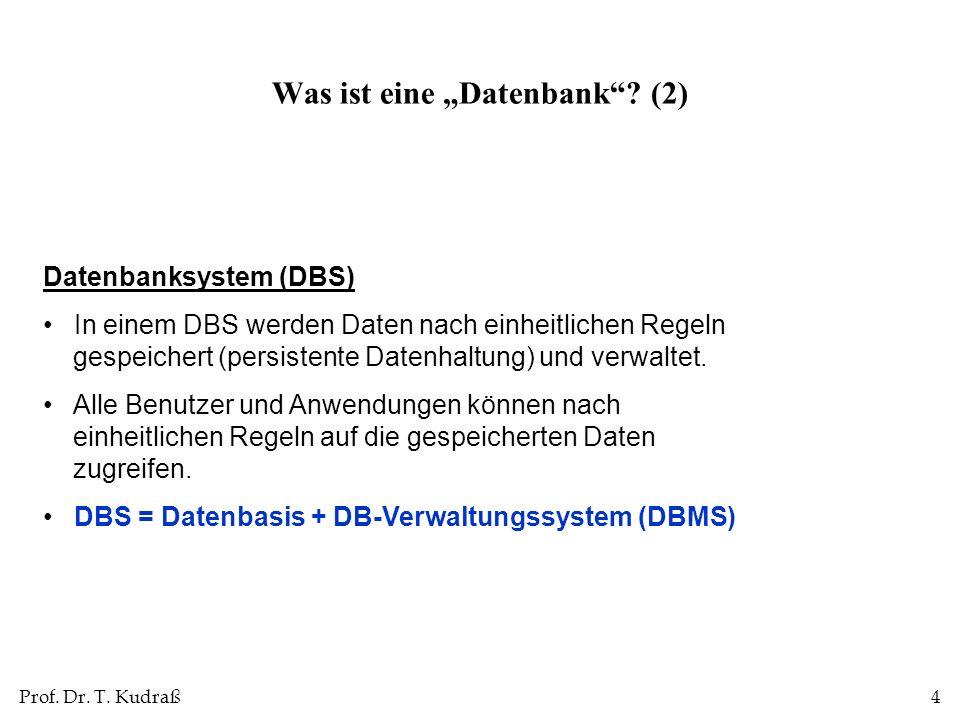"""Was ist eine """"Datenbank (2)"""