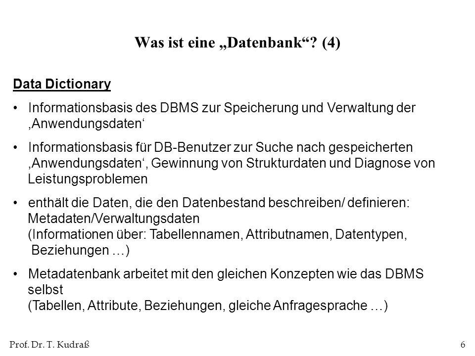 """Was ist eine """"Datenbank (4)"""
