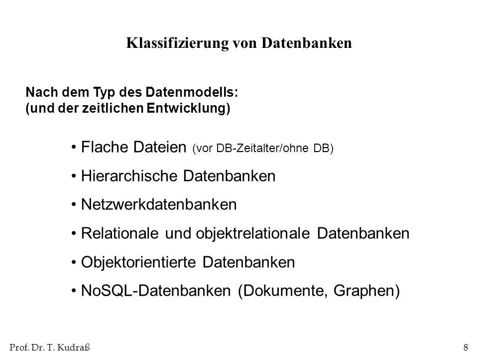 Klassifizierung von Datenbanken