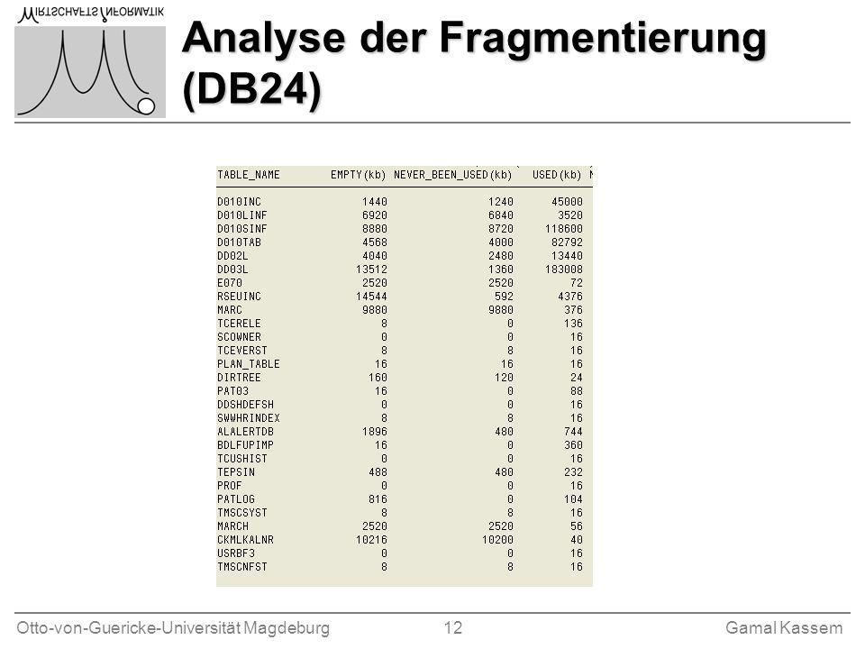 Analyse der Fragmentierung (DB24)