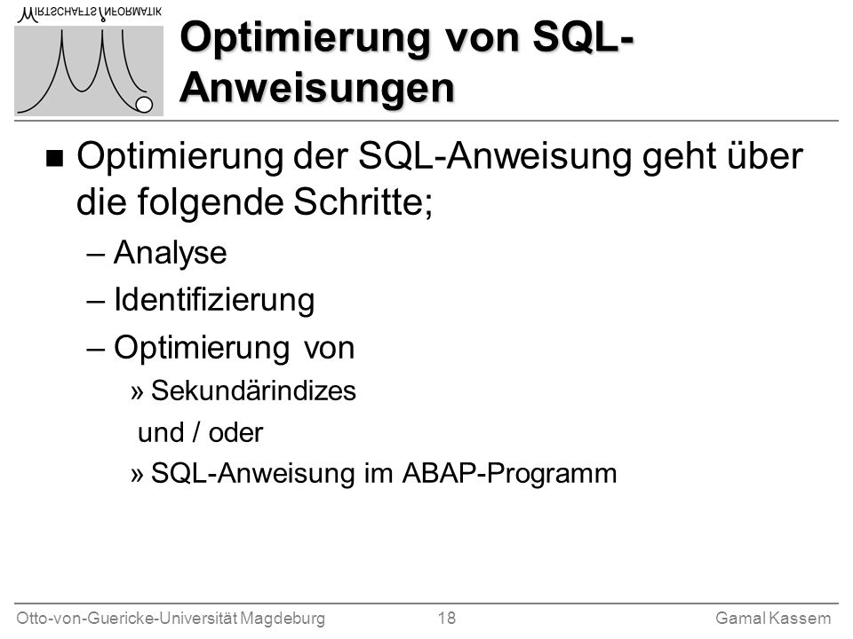 Optimierung von SQL-Anweisungen