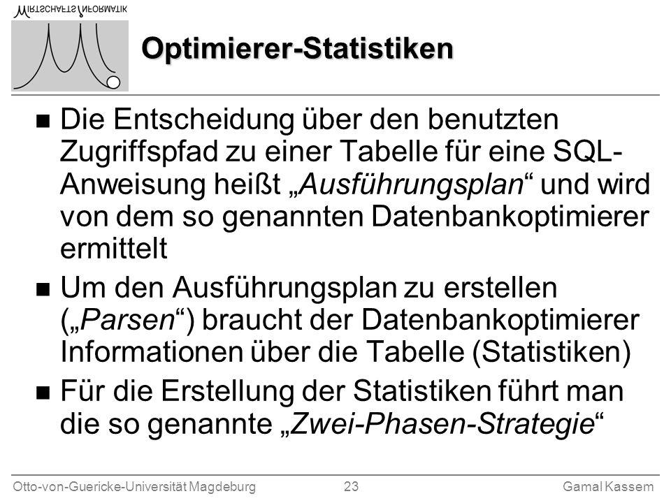 Optimierer-Statistiken
