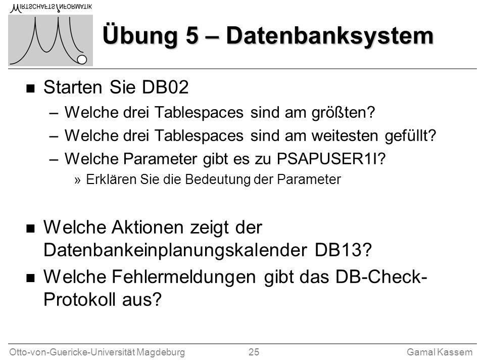 Übung 5 – Datenbanksystem