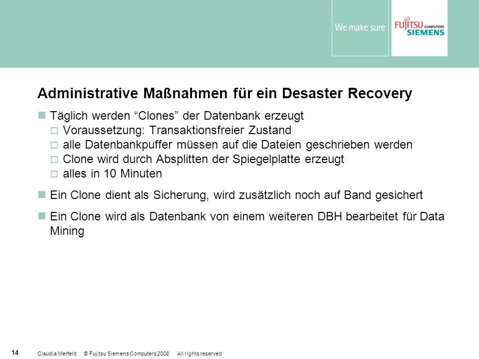 Administrative Maßnahmen für ein Desaster Recovery