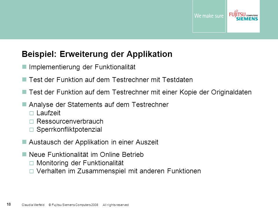 Beispiel: Erweiterung der Applikation