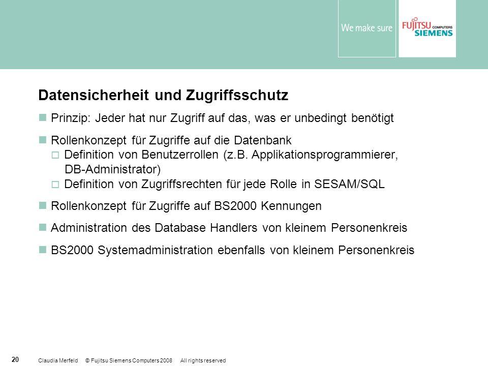 Datensicherheit und Zugriffsschutz
