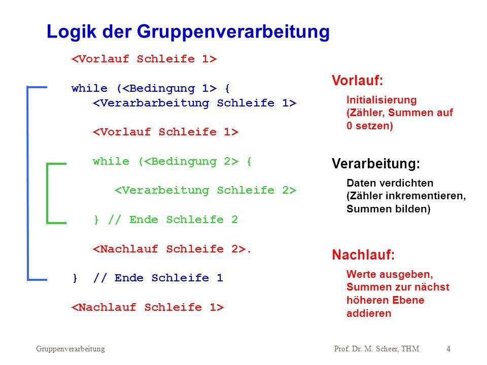 Logik der Gruppenverarbeitung