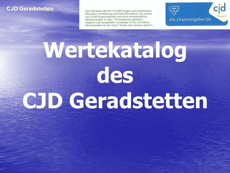 Wertekatalog des CJD Geradstetten