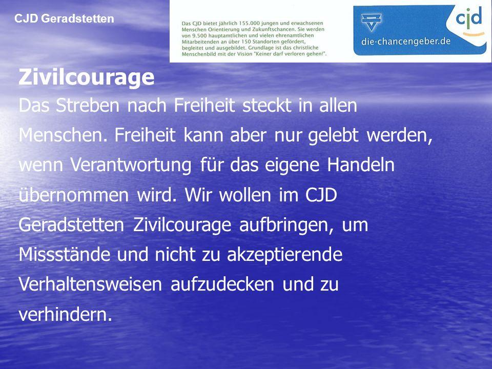 CJD Geradstetten Zivilcourage.