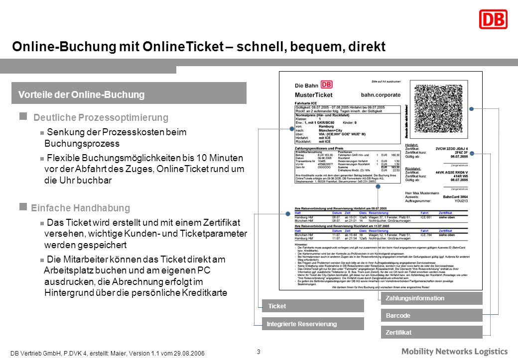 Online-Buchung mit OnlineTicket – schnell, bequem, direkt