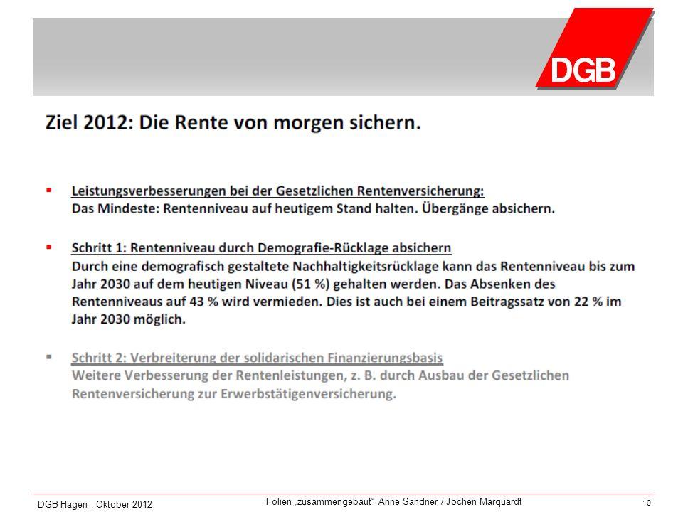 DGB Hagen , Oktober 2012 10 10
