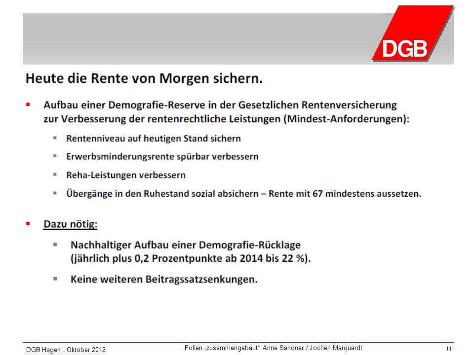 DGB Hagen , Oktober 2012 11 11