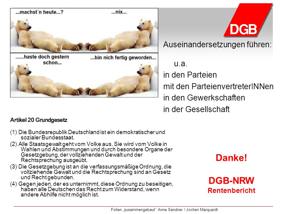 Danke! DGB-NRW Rentenbericht