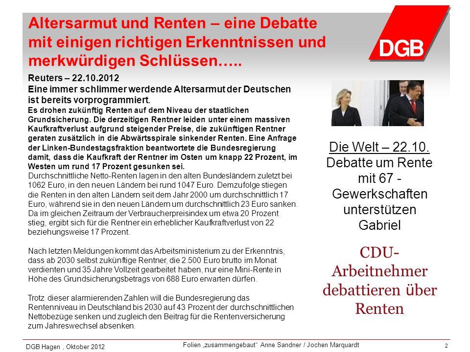 CDU-Arbeitnehmer debattieren über Renten