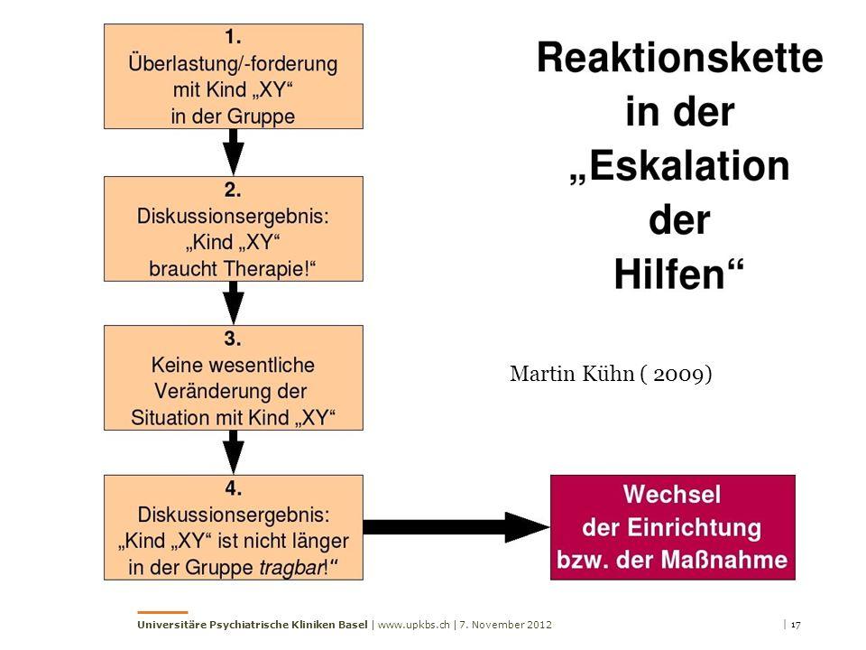 Martin Kühn ( 2009) Universitäre Psychiatrische Kliniken Basel | www.upkbs.ch | 7. November 2012