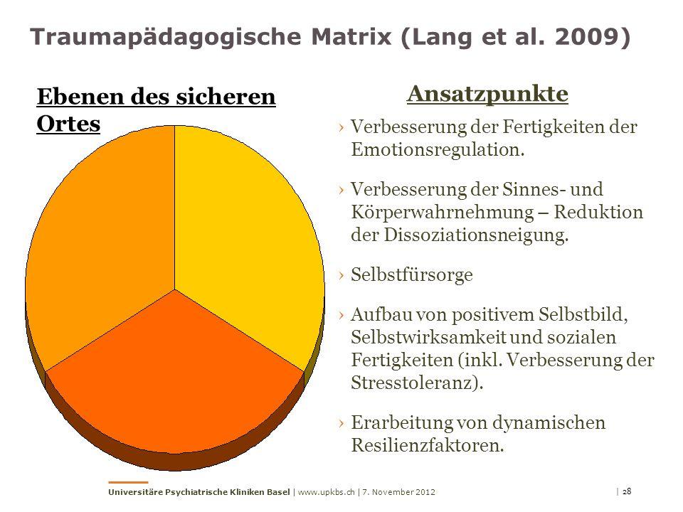 Traumapädagogische Matrix (Lang et al. 2009)