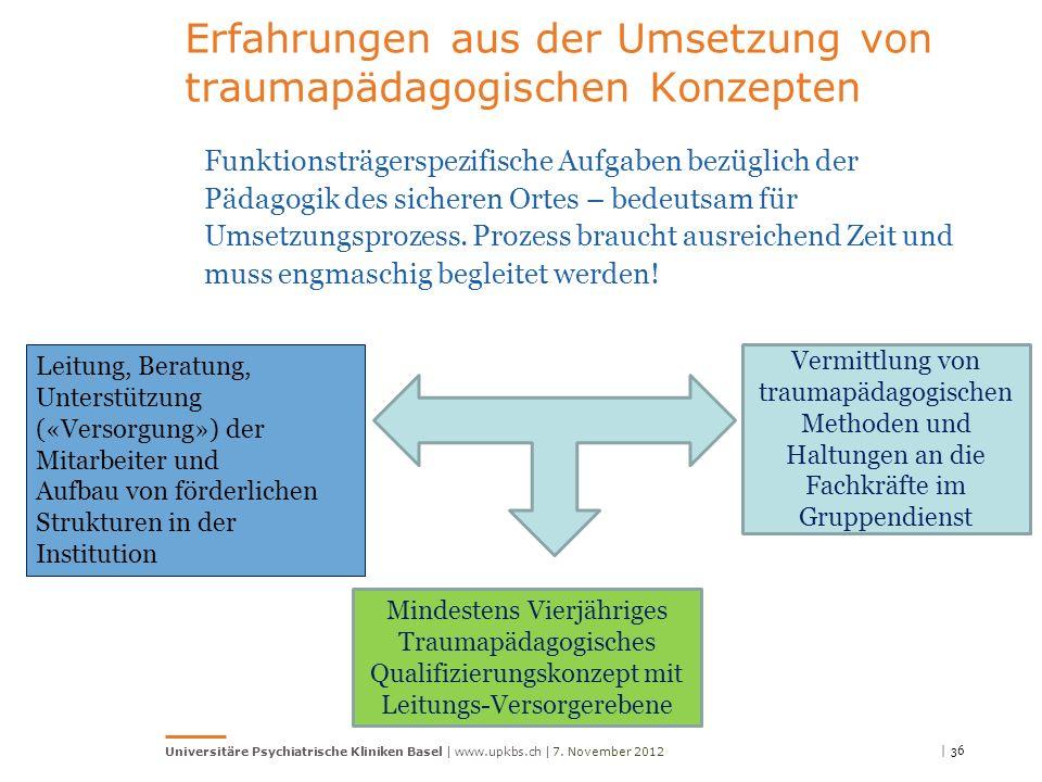 Erfahrungen aus der Umsetzung von traumapädagogischen Konzepten