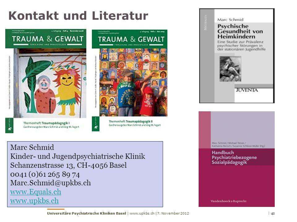 Kontakt und Literatur Marc Schmid