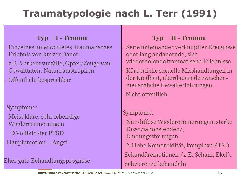 Traumatypologie nach L. Terr (1991)