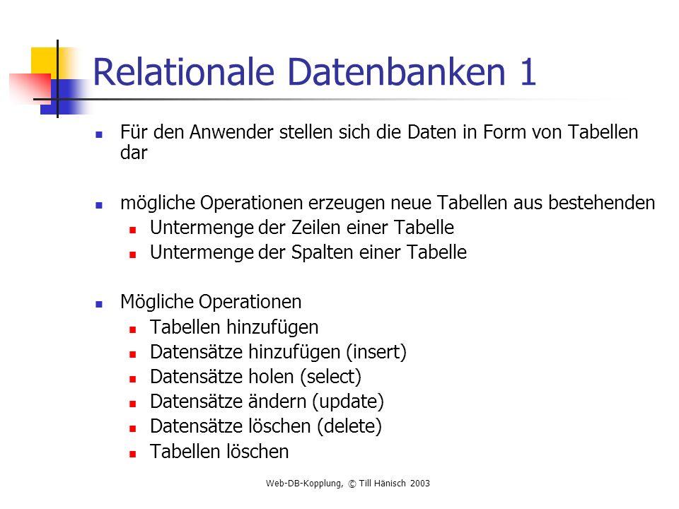 Relationale Datenbanken 1