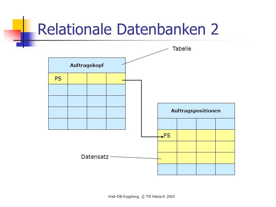 Relationale Datenbanken 2