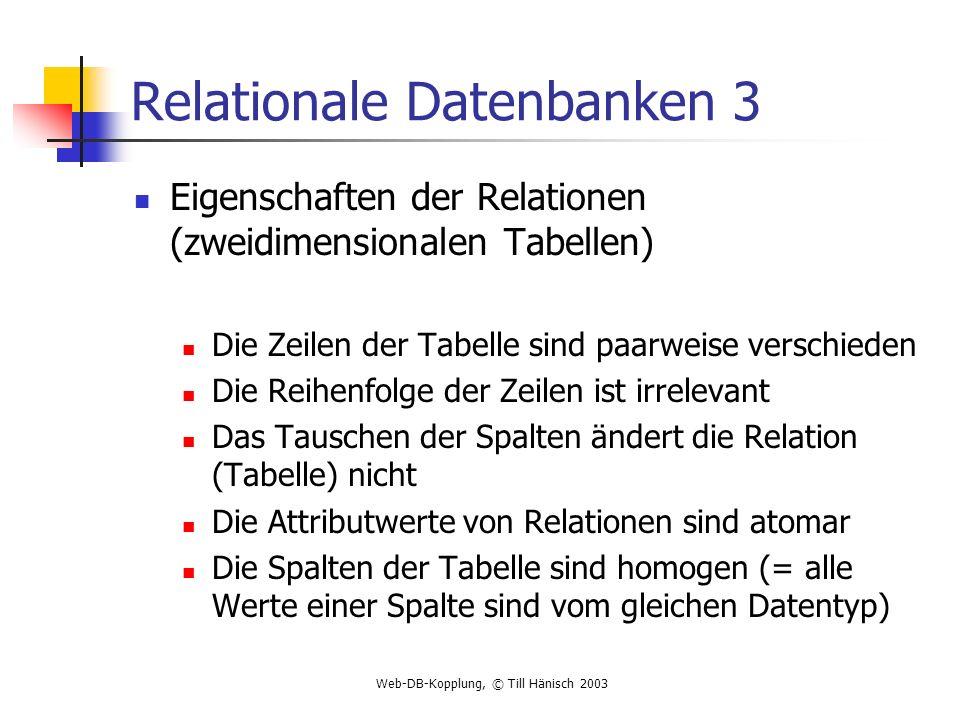 Relationale Datenbanken 3