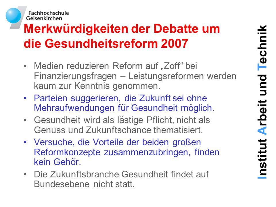 Merkwürdigkeiten der Debatte um die Gesundheitsreform 2007