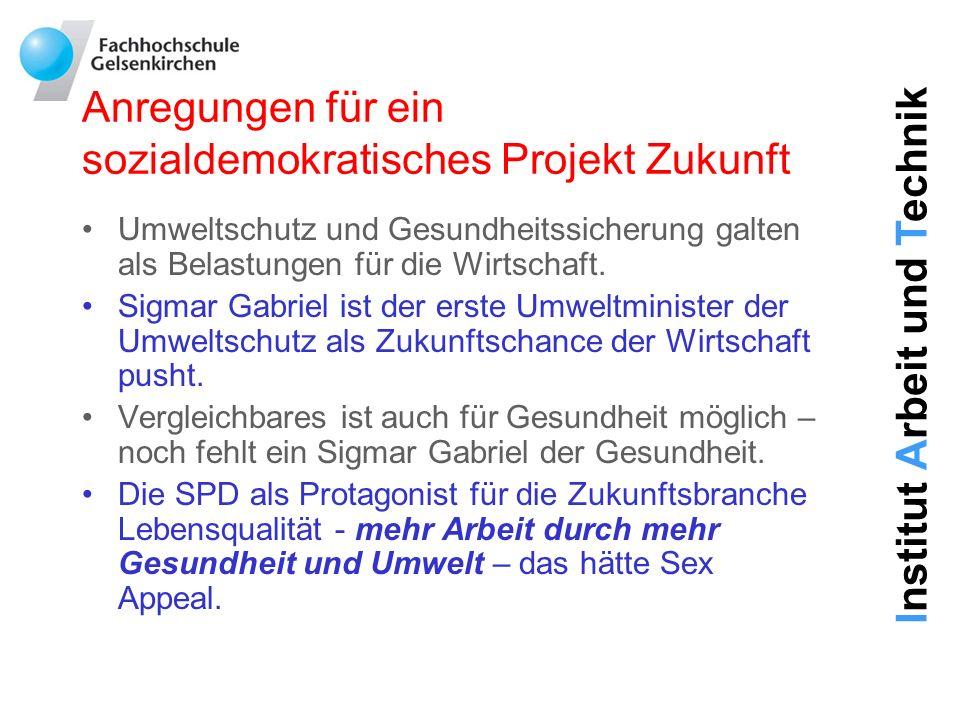 Anregungen für ein sozialdemokratisches Projekt Zukunft