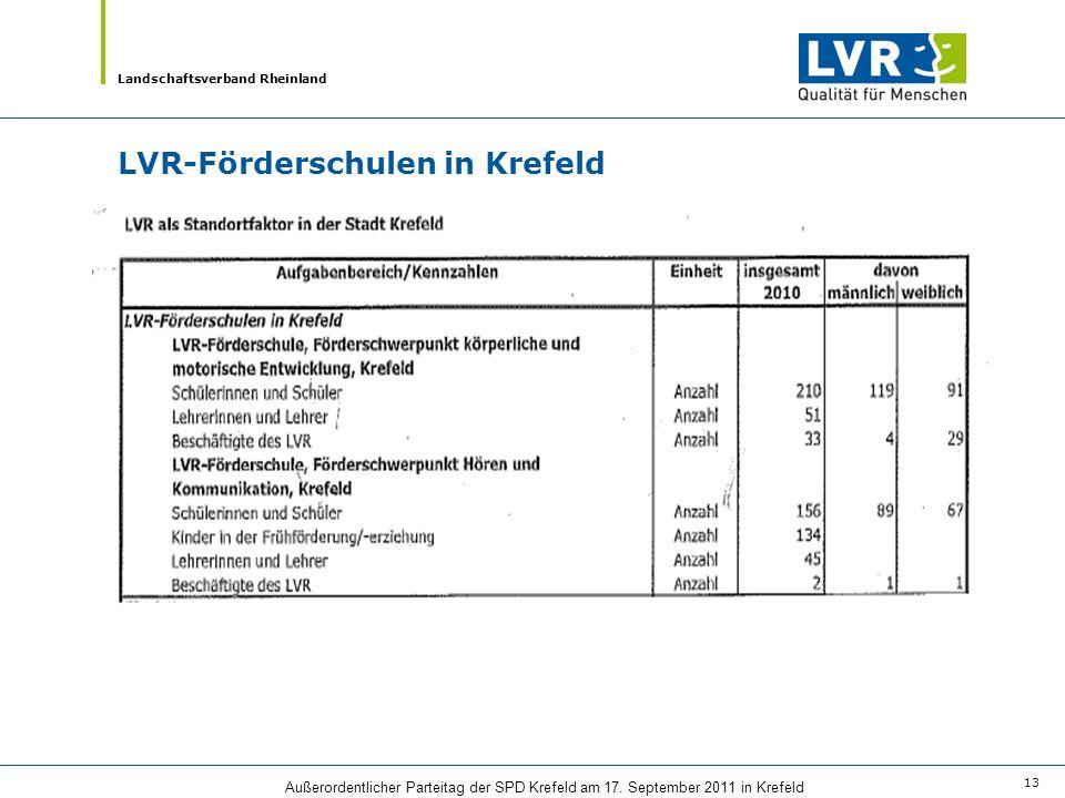 LVR-Förderschulen in Krefeld