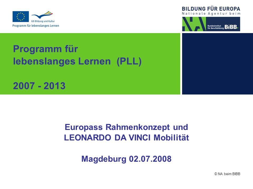 Europass Rahmenkonzept und LEONARDO DA VINCI Mobilität