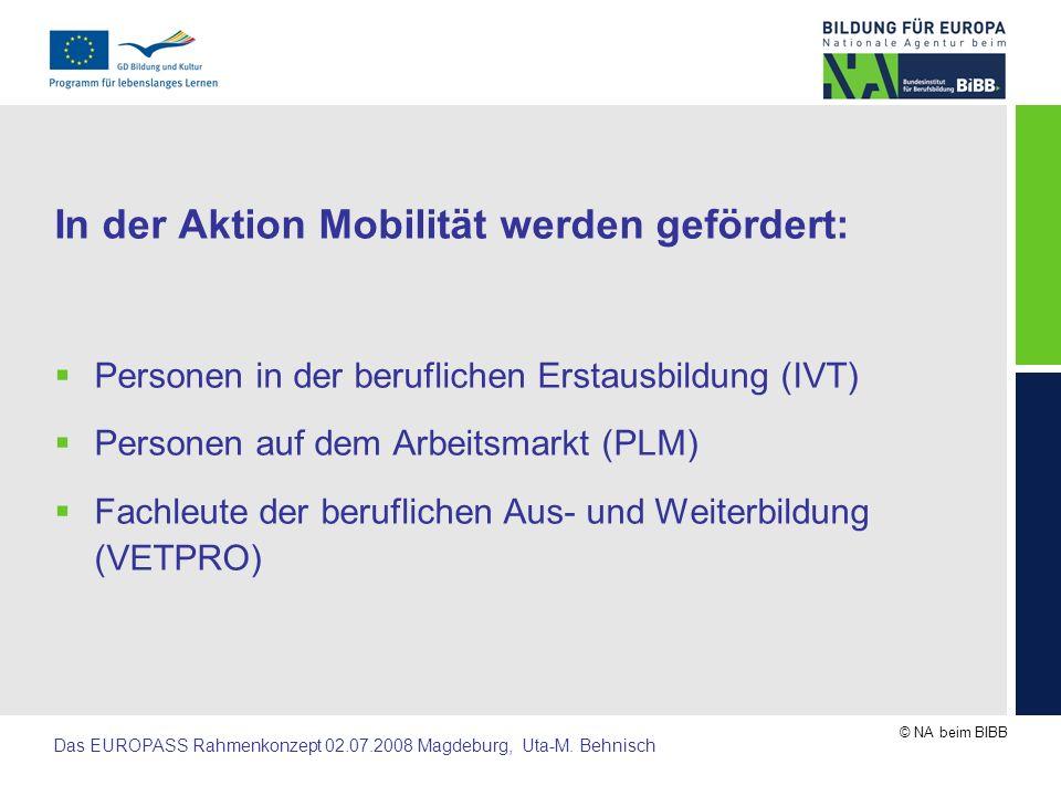 In der Aktion Mobilität werden gefördert: