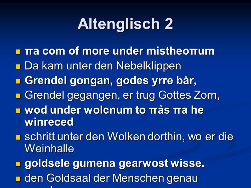 Altenglisch 2 πa com of more under mistheoπum
