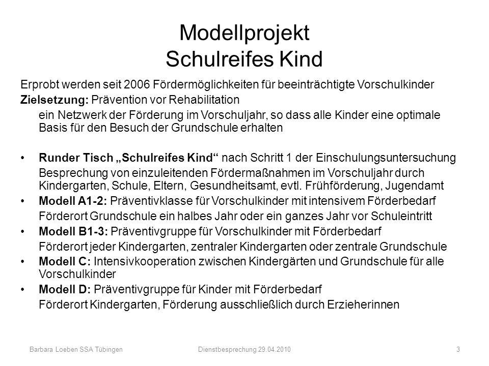 Modellprojekt Schulreifes Kind