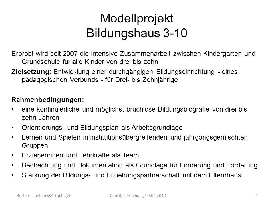 Modellprojekt Bildungshaus 3-10