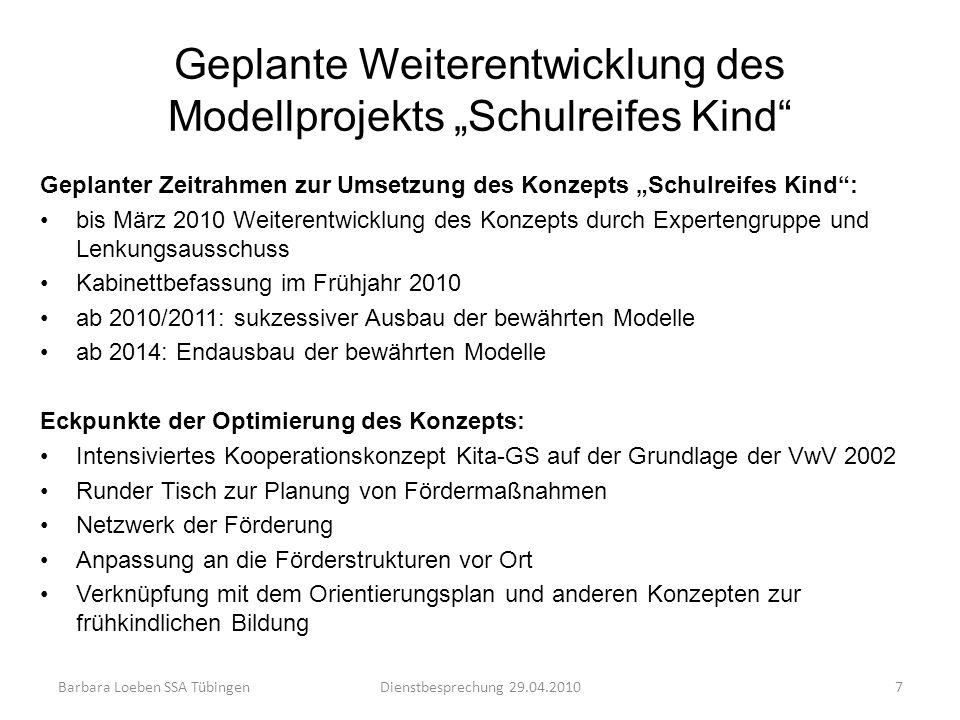"""Geplante Weiterentwicklung des Modellprojekts """"Schulreifes Kind"""