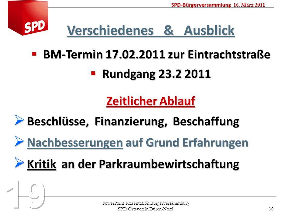 SPD-Bürgerversammlung 16. März 2011