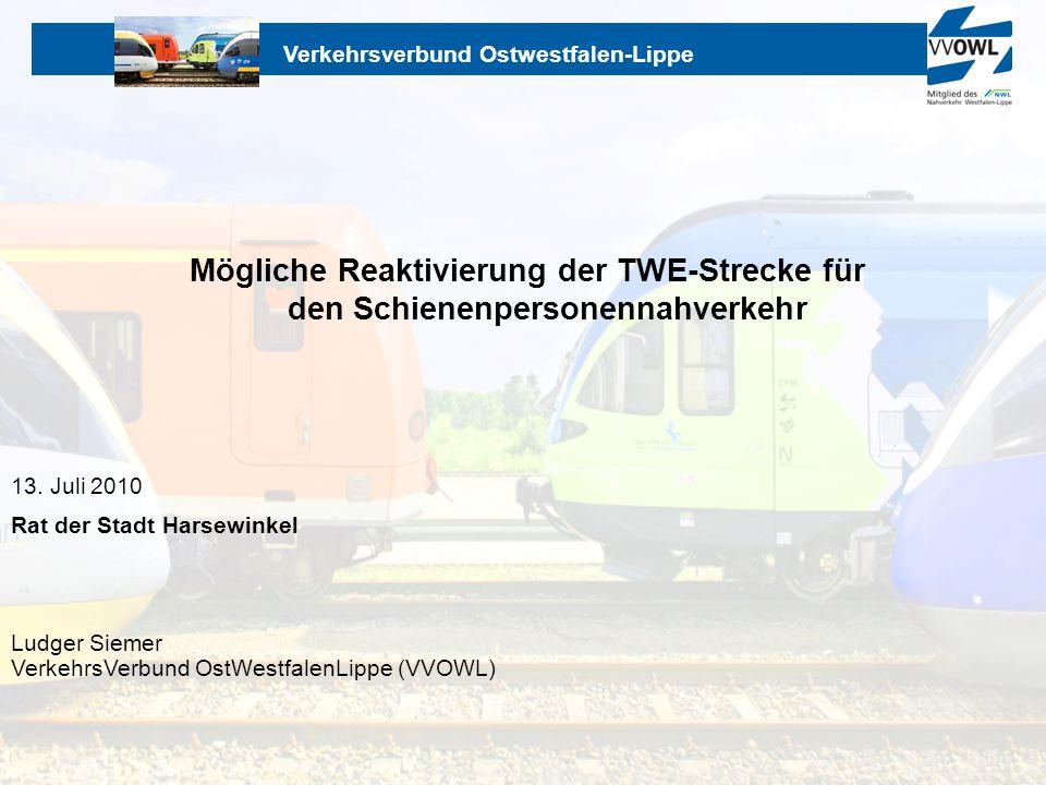 Mögliche Reaktivierung der TWE-Strecke für den Schienenpersonennahverkehr