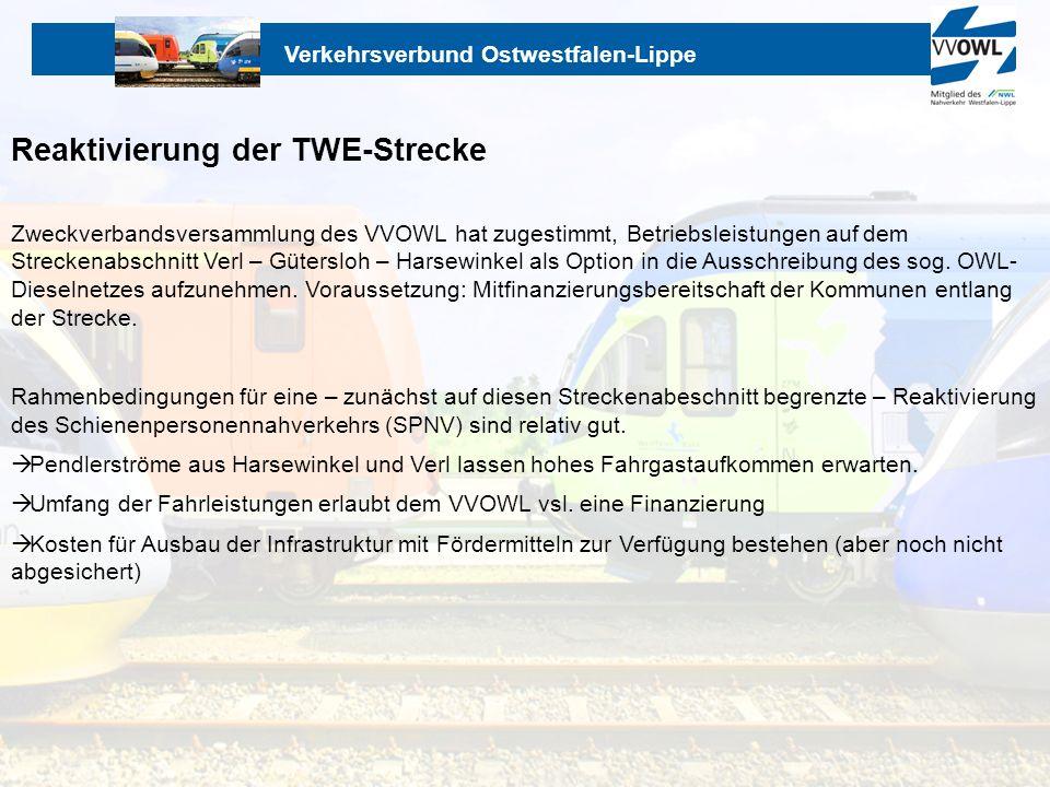 Reaktivierung der TWE-Strecke