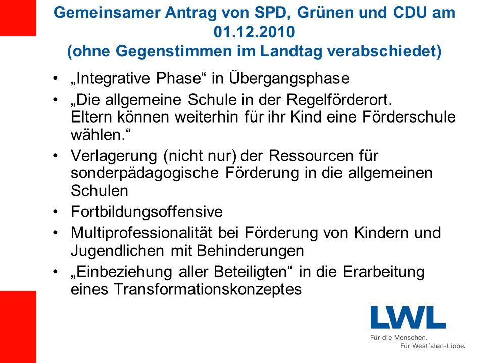 Gemeinsamer Antrag von SPD, Grünen und CDU am 01. 12