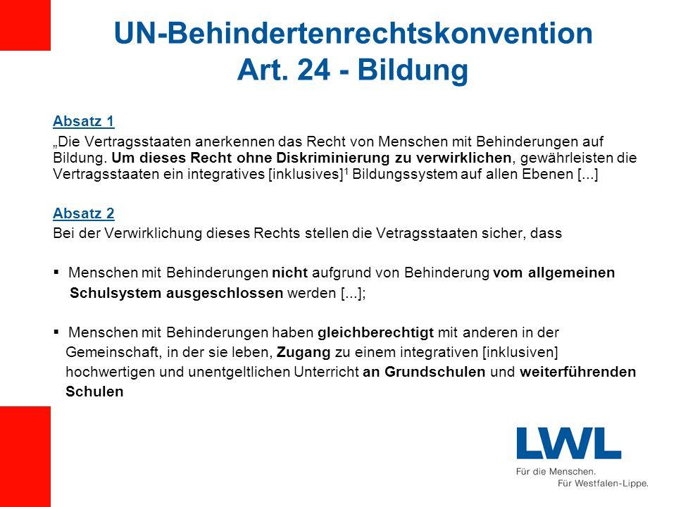 UN-Behindertenrechtskonvention Art. 24 - Bildung