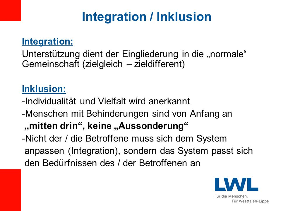 Integration / Inklusion