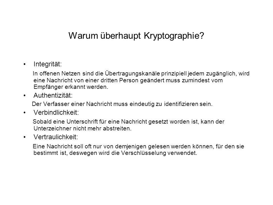 Warum überhaupt Kryptographie