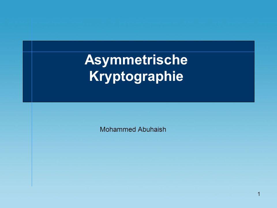 Asymmetrische Kryptographie