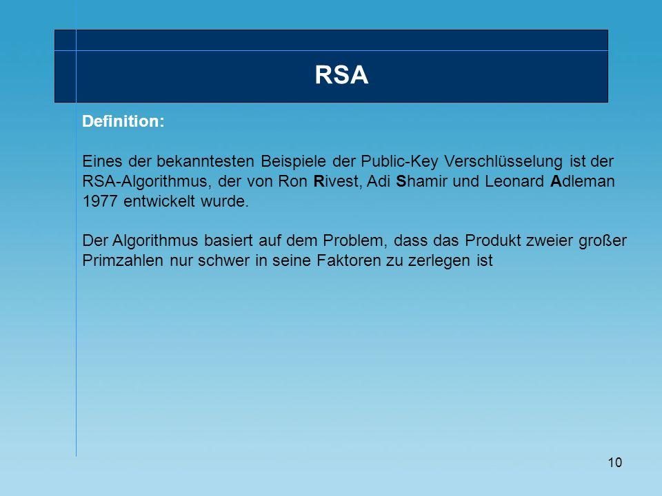 RSADefinition: