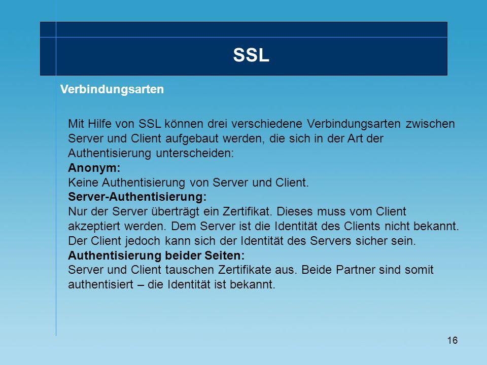 SSLVerbindungsarten.