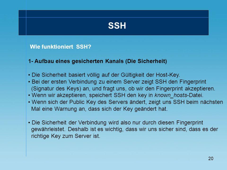 SSH Wie funktioniert SSH