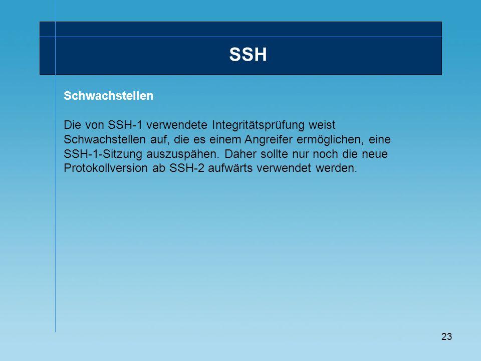 SSH Schwachstellen.