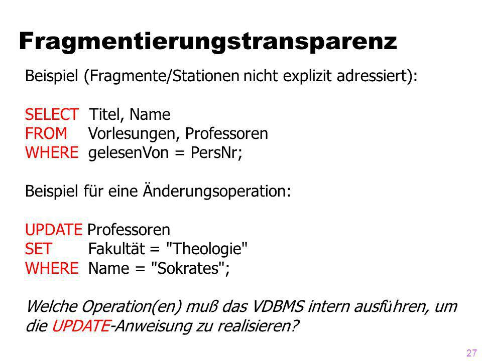 Fragmentierungstransparenz